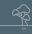 Tree standing alone symbol design webpage logo vector image vector image