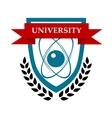 University emblem design vector image vector image