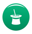 wand in hat icon green vector image vector image