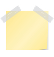 yellow post it vector image