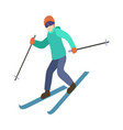 young guy is riding a sky in stylish bright vector image vector image