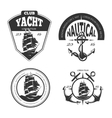 Vintage nautical logo labels and badges vector image