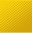 halftone dots on yellow background vector image
