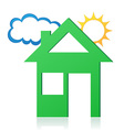house sun and cloud concept 02 vector image