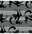 Seamless pattern beauty black cats vector image