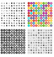 100 criminal offence icons set variant vector image vector image