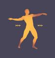 3d model of man human body design element vector image