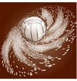 abstract volleyball background vector image vector image