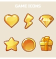 Action gold Game Icons Set vector image vector image