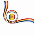 andorran wavy flag background vector image vector image