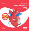 banner design of world heart day vector image