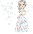 Beautiful fashionable girl bride vector image vector image