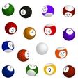 Billiard balls set vector image vector image