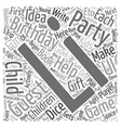 Birthday Party Ideas for Children Ages 2 12 text vector image vector image