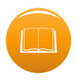 book deployed icon orange vector image vector image