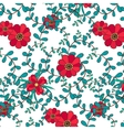 Botanical seamless pattern leafs and flowers vector image vector image
