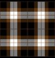 brown and black tartan plaid seamless pattern vector image vector image