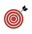 bullseye target icon image vector image vector image