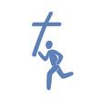 Christian movement symbol vector image