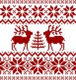 Christmas Norwegian pattern vector image vector image