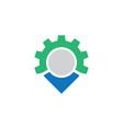 circle gear business logo vector image vector image