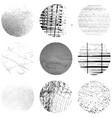 circular grunge texture set vector image vector image