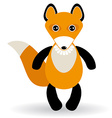 cute cartoon fox on white background vector image vector image
