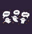 cute happy ghosts flat ghost character vector image