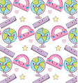 cute kawaii background vector image