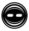 decoration button icon simple black style vector image vector image