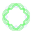 Decorative Circle Wave Frame vector image