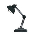 desk lamp ornament light decoration vector image