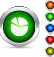 Diagram button vector image vector image