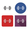 dotted icon dumbbell in four variants with vector image