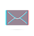 E-mail anagliph icon with shadow vector image vector image
