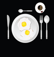 egg and cup of coffee vector image