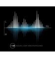 Equalizer digital sound design element vector image vector image
