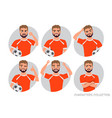 footballer character constructor soccer player vector image