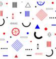 geometric flat memphis pattern vector image vector image