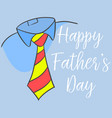 happy father day style cartoon for card vector image