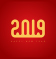 happy new year 2019 cover calendar or vector image vector image