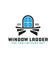 home window staircase logo vector image vector image