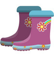 kids gumboots isolated on white background vector image