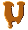 Letter U from caramel icon vector image