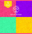 line day of the dead patterns vector image