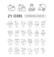 line icons international vegan day vector image