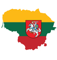 Lithuania Flag vector image vector image