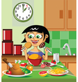 lovely lunch vector image