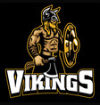 mascot viking warrior vector image vector image