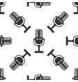 microphone icon seamless pattern vector image vector image